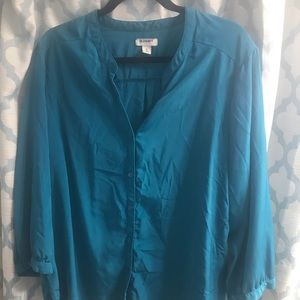 Old Navy Blue Silky Blouse